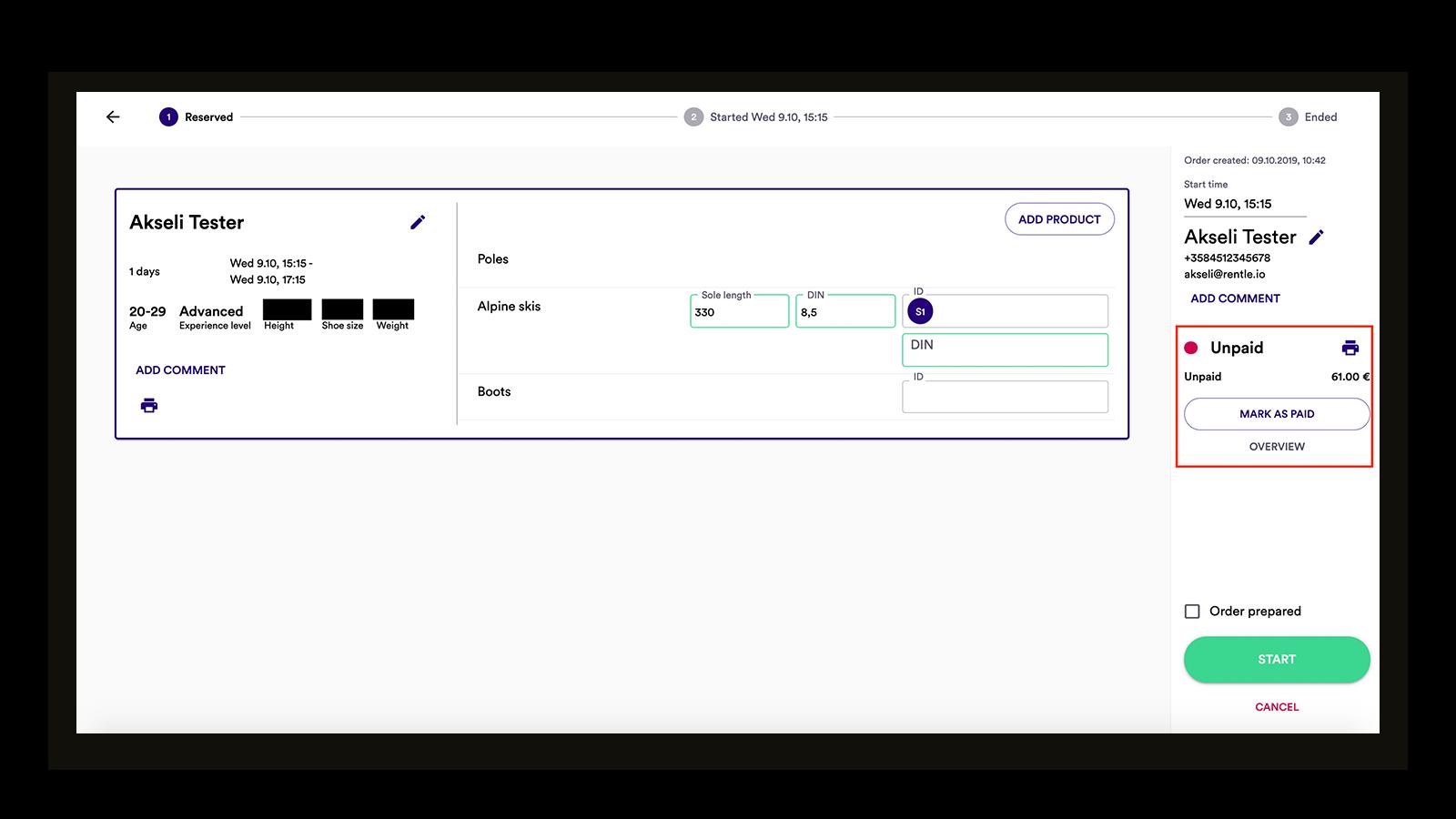 payment status